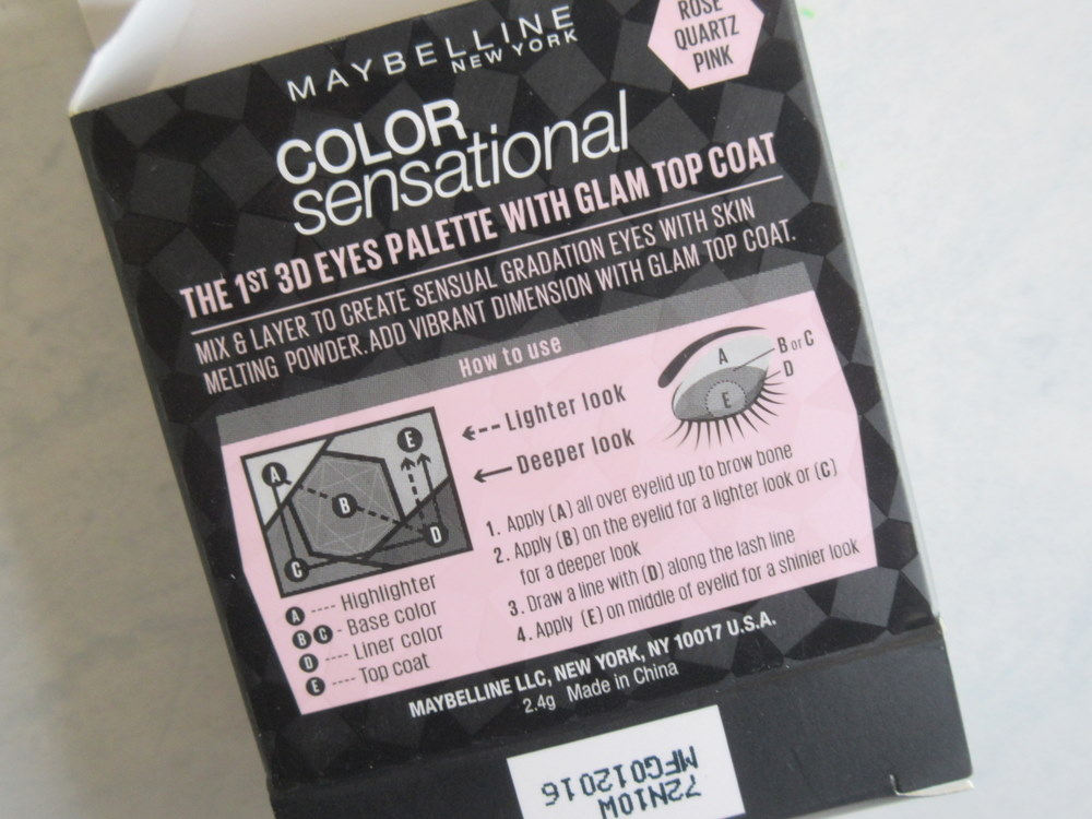 Maybelline Color Sensational Diamond Eyeshadow Rose Pink Quartz