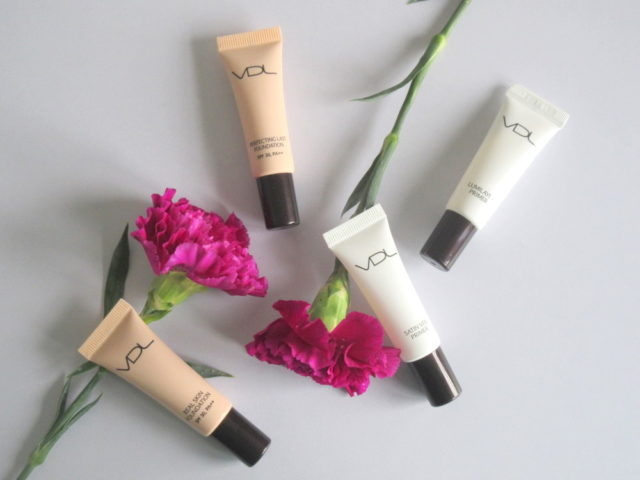 VDL Lumilayer Primer, VDL Satin Veil Primer, VDL Real Skin Foundation, VDL Perfecting Last Foundation