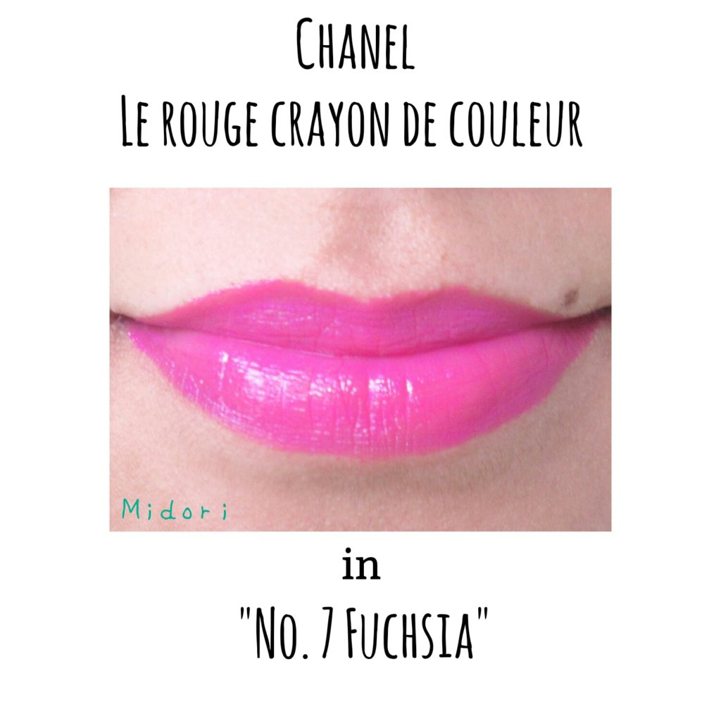 Chanel Le Rouge Crayon De Couleur Jumbo Longwear Lip Crayon in 'No. 7 Fuchsia'.