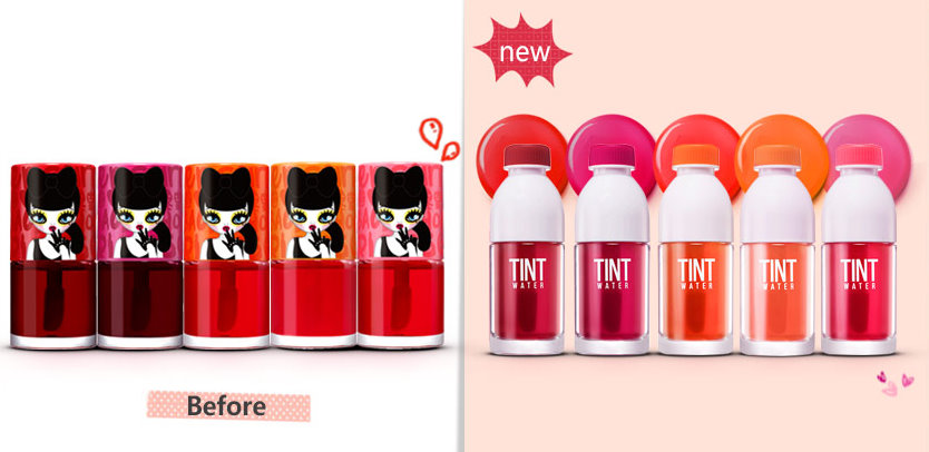 The Original Tint Water Line got repackaged earlier this year!