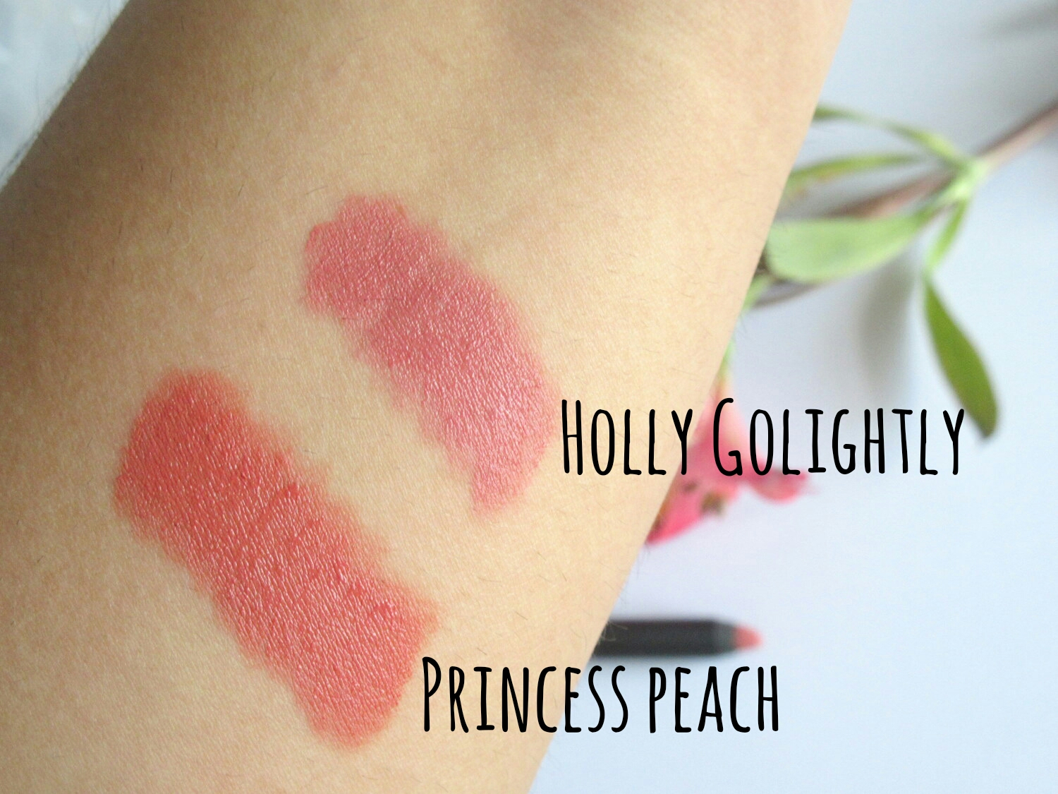 Sugar Matte As Hell Lip Crayon Princess Peach and Holly Golightly