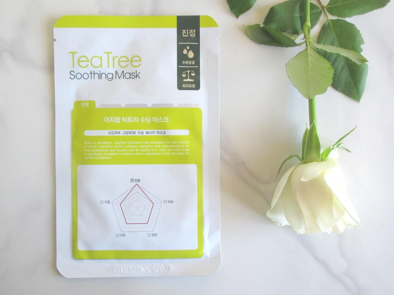Lee Ji Ham Tea Tree Soothing Mask, LJH tea tree soothing mask, leegeeham tea tree soothing mask