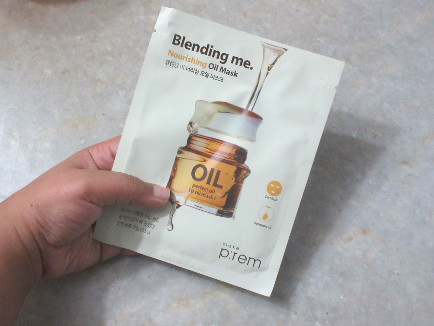 make prem nourishing oil sheet mask, make p:rem blending me nourishing oil mask, make prem blending me nourishing oil mask