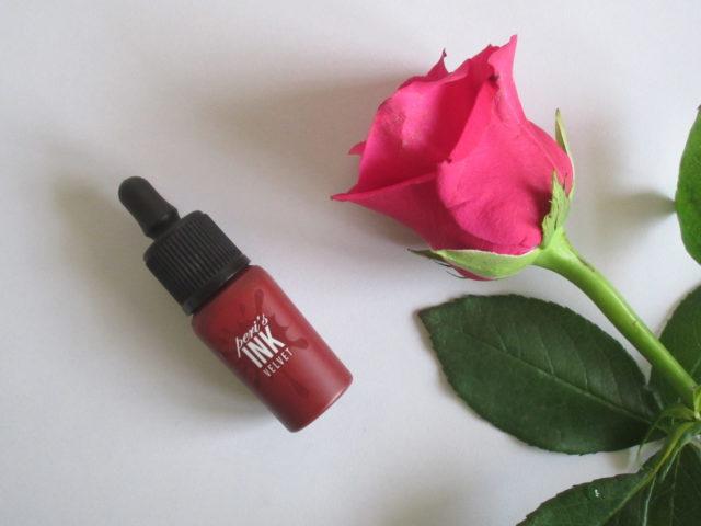 peripera peri's ink the velvet celeb deep rose, peripera celeb deep rose, kbeauty mlbb