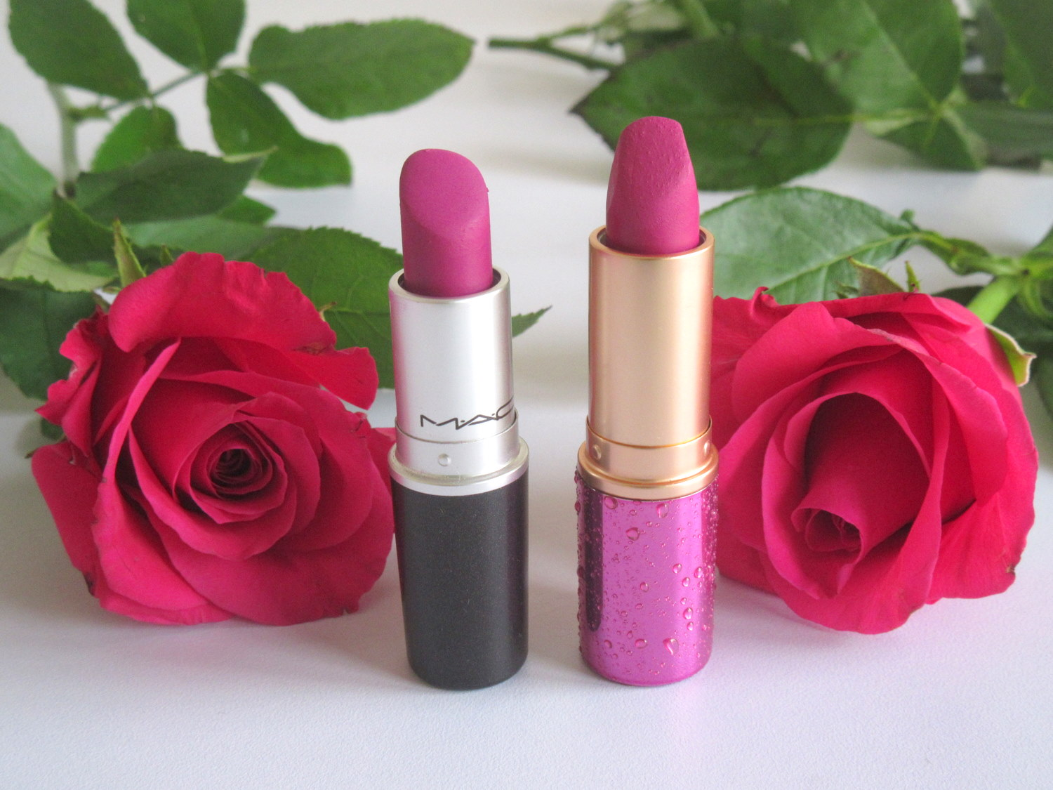 MAC Retro Matte Lipstick Flat Out Fabulous, Colorbar Feel The Rain Matte Lipstick in Shower