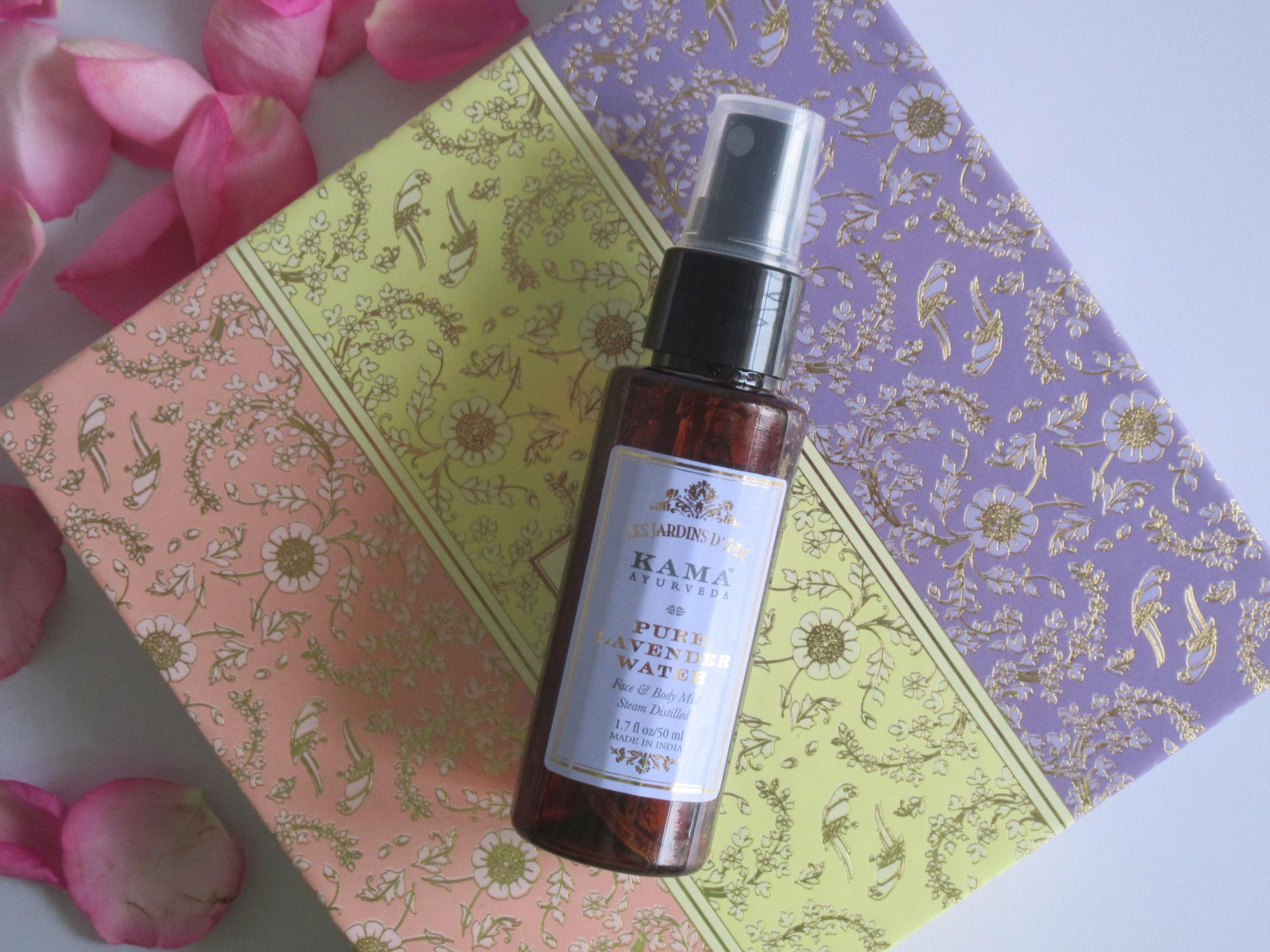 kama ayurveda pure floral mist box, kama ayurveda pure rose water, kama ayurveda pure mogra water, kama ayurveda pure lavender water