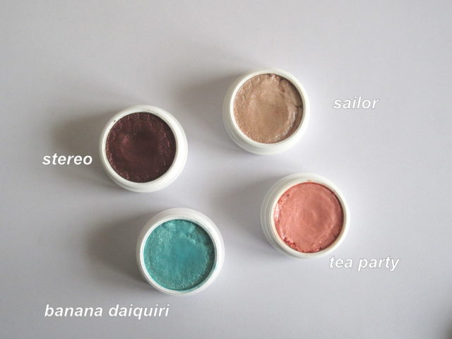 colourpop super shock shadow tea party, colourpop super shock shadow stereo, colourpop super shock shadow banana daiquiri, colourpop super shock shadow sailor