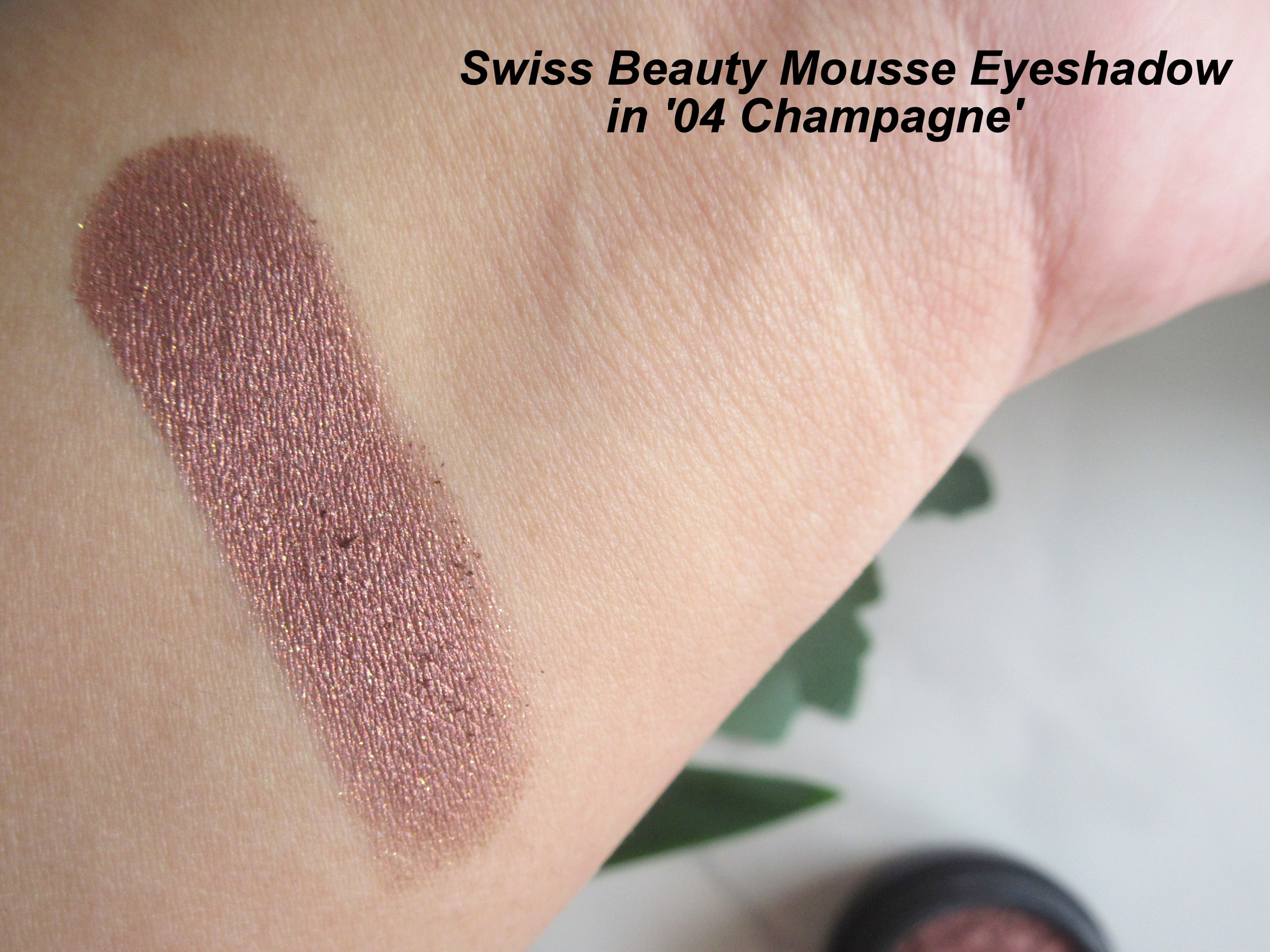 swiss beauty mousse eyeshadow 04 champagne