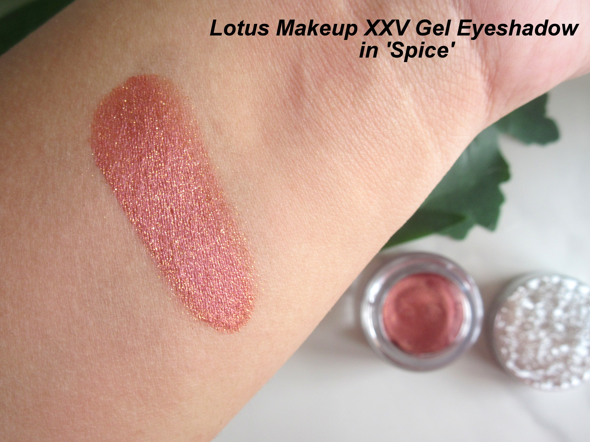 lotus xxv gel eyeshadow spice