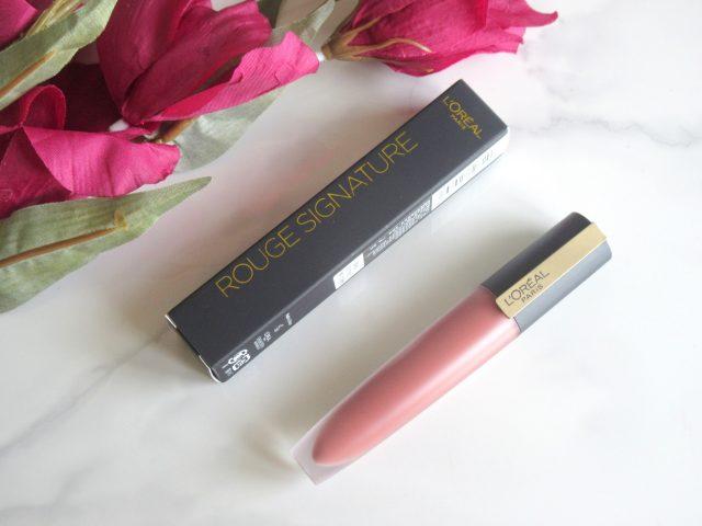 loreal rouge signature liquid lipstick 116 i explore, loreal i explore, loreal liquid lipstick i explore