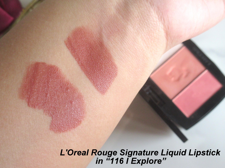 loreal rouge signature liquid lipstick 116 i explore, loreal i explore, loreal liquid lipstick i explore, LOreal Rouge Signature Matte Lip Ink in 116 I Explore